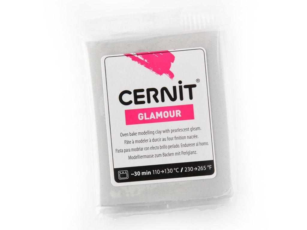 Polymer clay Cernit Glamour 56g 080 silver