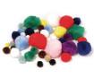 Pūkaini bumbuļi Rayher dažādas krāsas un izmēri 100gab