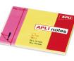 Papīrs piezīmēm APLI 25x75mm+75x75mm rozā+dzeltena
