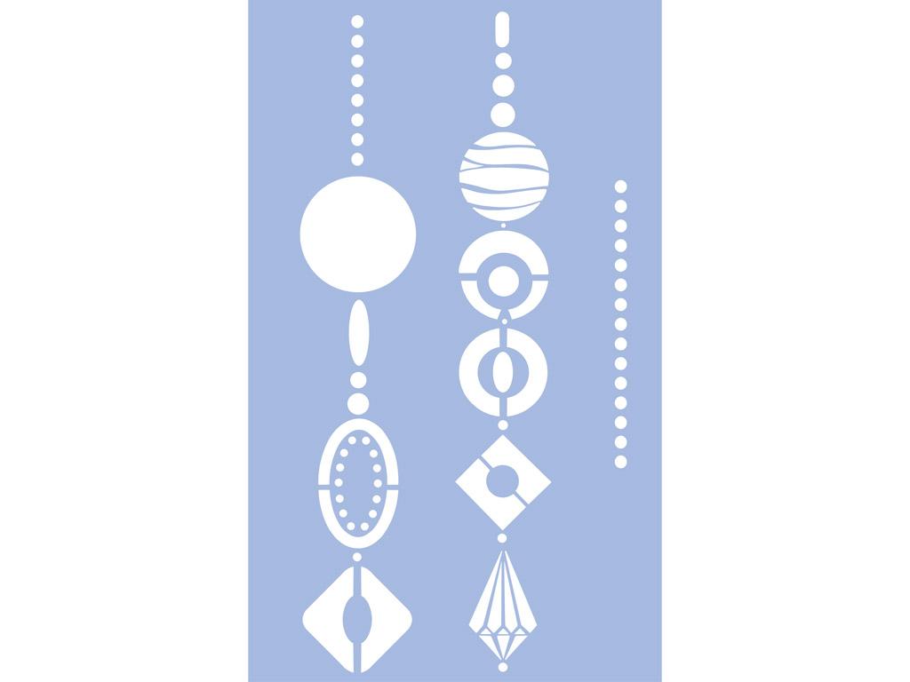 Šabloon Marabu 40x66cm Jewellery