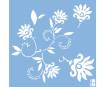 Stencil Marabu 33x33cm Dancing Flowers