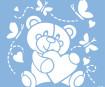 Stencil Marabu 33x33cm Baby bear