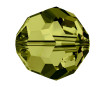 Krištolinis karoliukas Swarovski apvalus 5000 4mm 12vnt. 228 olivine