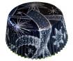 Muffinivorm 50x25mm tähed must 60tk blistril
