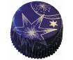 Muffinivorm 50x25mm tähed sinine 60tk blistril