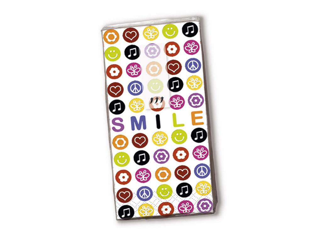 Papīra kabatlakatiņi 10gab. 4-slāņu Smile