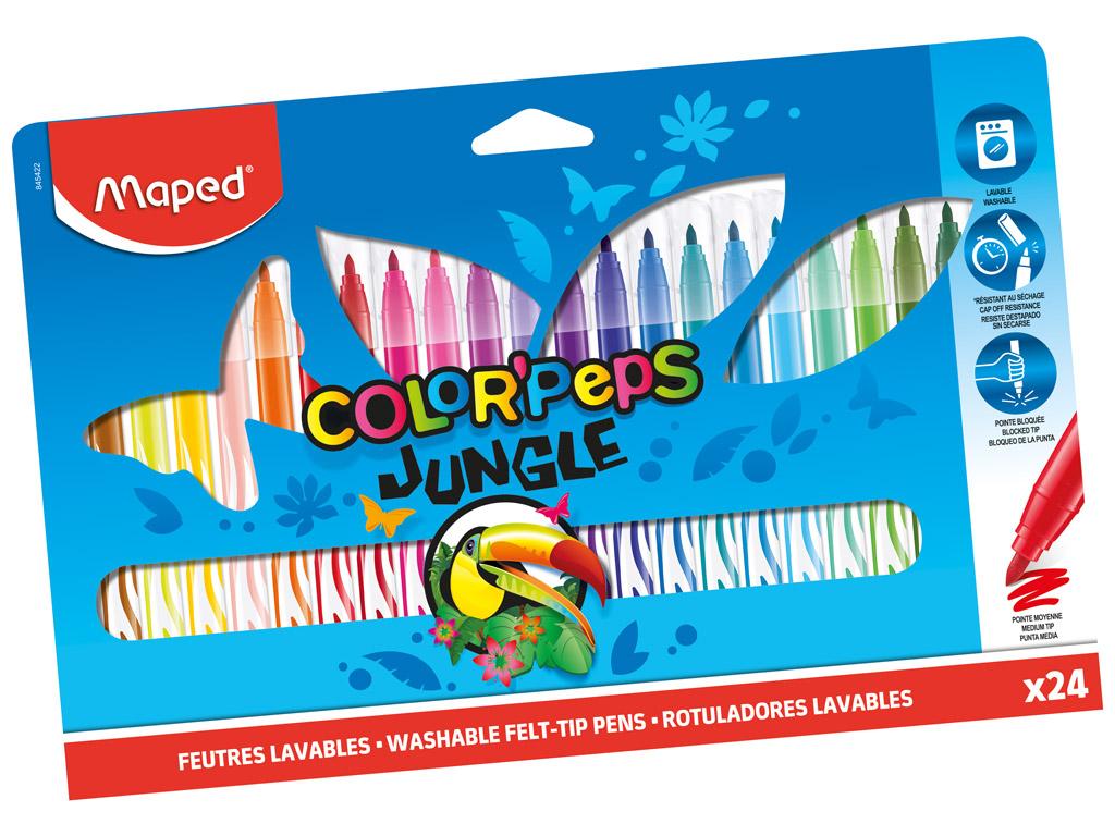 Viltpliiats ColorPeps Jungle 24tk