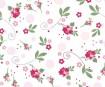 Krepp-paber Mille Fleurs 50x200cm roosid valge/roosa