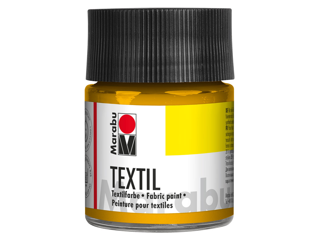 Krāsa tekstilam 50ml 021 medium yellow