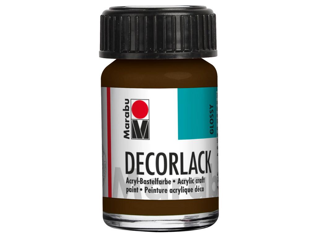 Dekoorvärv Decorlack 15ml 045 dark brown