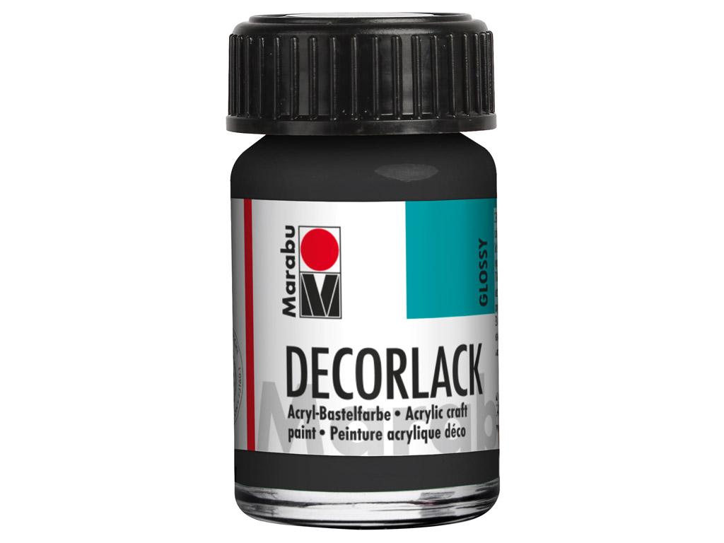 Dekoorvärv Decorlack 15ml 073 black