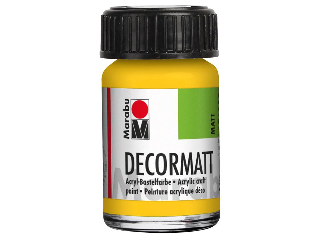 Dekoorvärv Decormatt 15ml 021 medium yellow