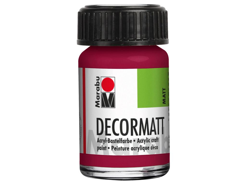 Dekoorvärv Decormatt 15ml 004 garnet red
