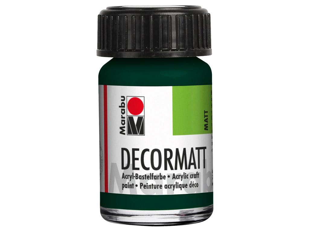 Dekoorvärv Decormatt 15ml 075 pine green