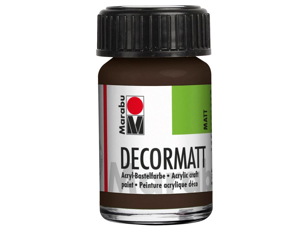 Dekoorvärv Decormatt 15ml 045 dark brown