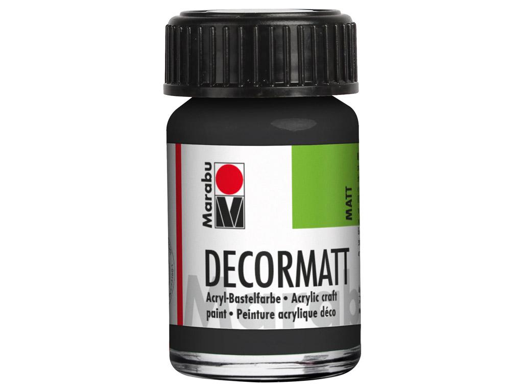 Dekoorvärv Decormatt 15ml 073 black