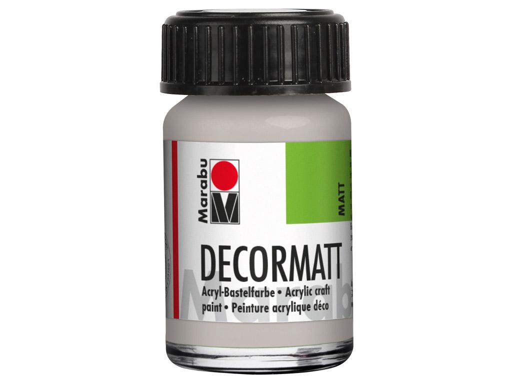 Dekoorvärv Decormatt 15ml 782 metallic-silver