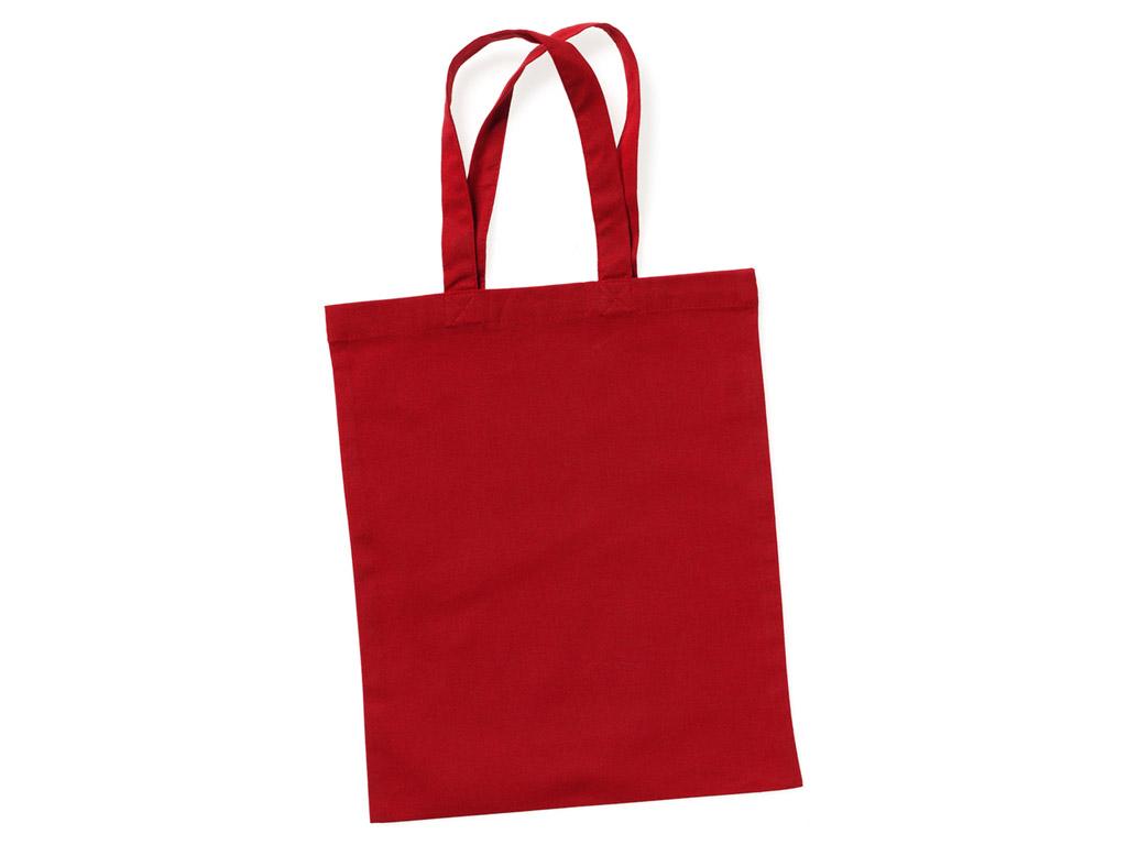 Kokvilnas maisiņš 24x28cm ar īsiem rokturiem passion red
