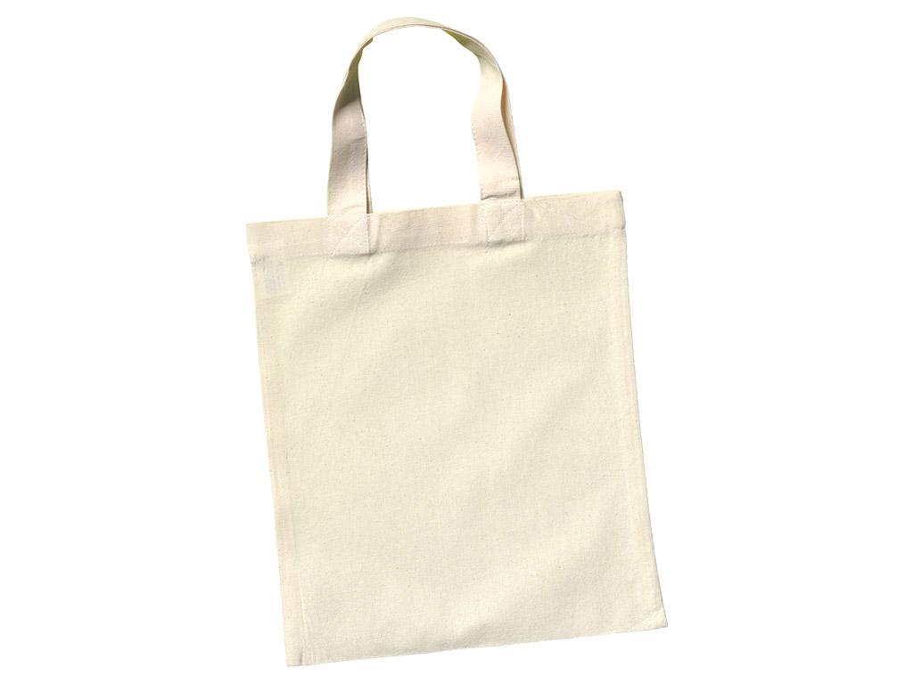 Kokvilnas maisiņš 24x28cm ar īsiem rokturiem