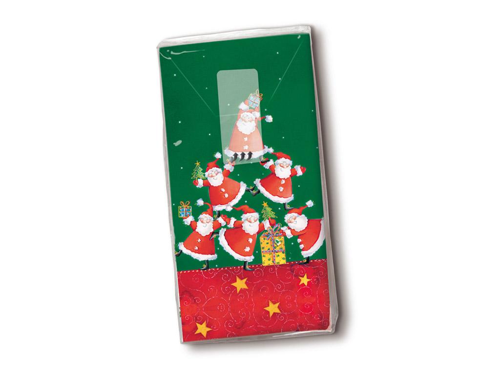 Popierinės nosinės 10vnt. 4 sluoksnių Pyramid of Santas