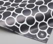 Gift wrap paper 3120mino 500x700mm bubble printed in dark gray