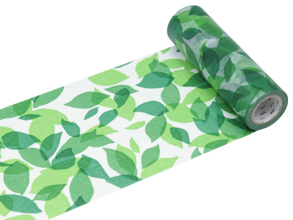 Washi dekoratyvi lipni juostelė mt casa shade 150mmx10m leaf S