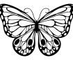 Šabloon Marabu Silhouette 15x15cm Romantic Butterfly
