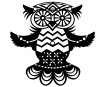 Šabloon Marabu Silhouette 15x15cm Flying Owl
