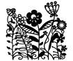 Šabloon Marabu Silhouette 15x15cm Flowerbed