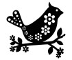 Šablonas Marabu Silhouette 15x15cm Bird with Flowers