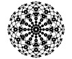 Šabloon Marabu Silhouette 30x30cm Lace Rosette