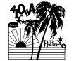 Šablons Marabu Silhouette 30x30cm Aloha Paradise