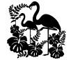 Šabloon Marabu Silhouette 30x30cm Flamingo
