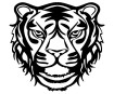 Šablons Marabu Silhouette 30x30cm Wild Tiger
