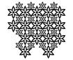 Šabloon Marabu Silhouette 30x30cm Floral Pattern