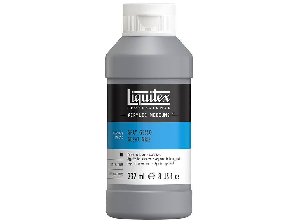 Gruntas Liquitex Gesso 237ml pilka
