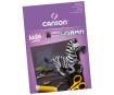 Kartong Canson Kids must A4/220g 10 lehte