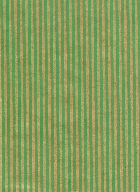 Nepaali paber A4 Stripes Gold on Forest Green