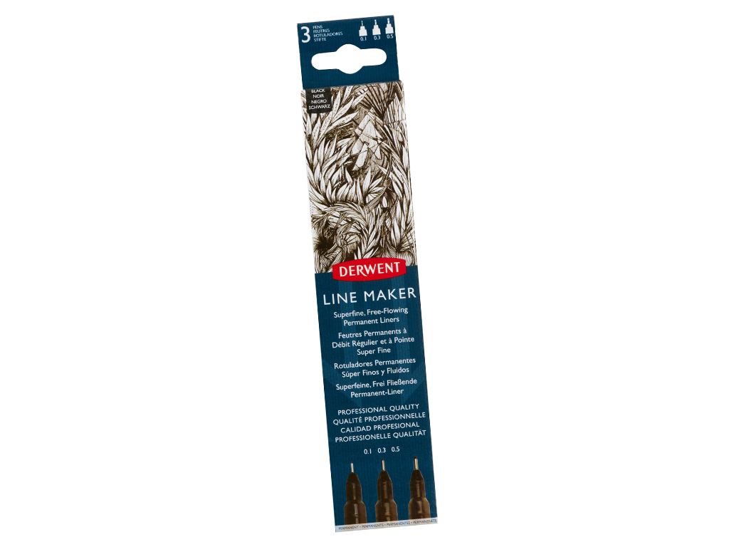 Tintpliiats fineliner Graphik Line Maker 3tk (0.1/0.3/0.5) must
