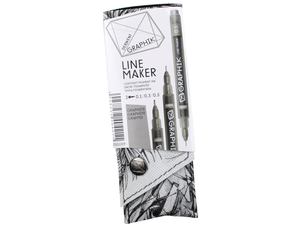 Tintpliiats fineliner Graphik Line Maker 3tk (0.1/0.3/0.5) hall