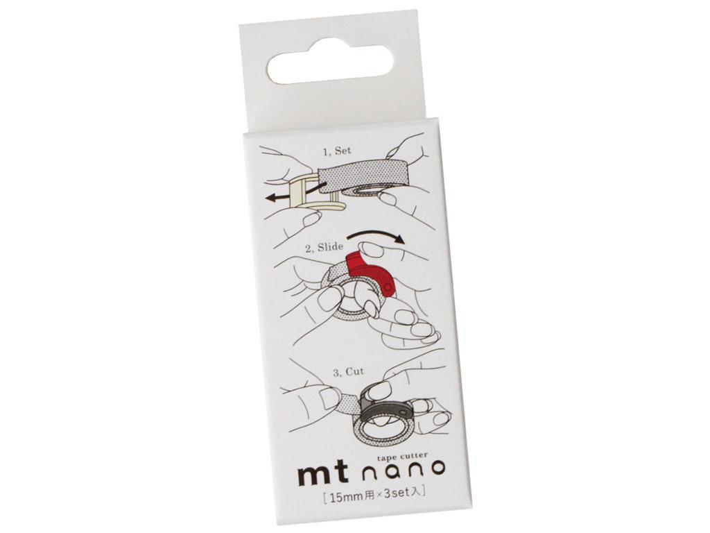Washi dekoratyvi lipni juostelės peiliukas mt nano 15mm 3vnt.