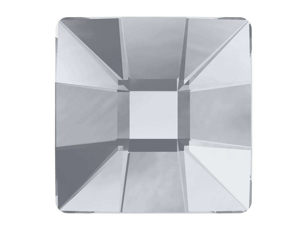 Kristāla akmentiņš Swarovski Flat Back Hotfix kvadrāts 2483 10mm 001 crystal