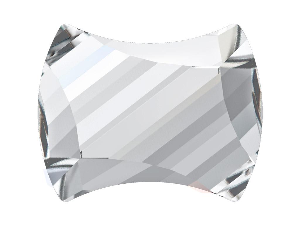 Kristāla akmentiņš Swarovski Flat Back Hotfix curvey 2540 12x9.5mm 001 crystal