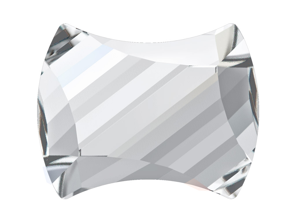 Kristallkivi Swarovski Flat Back Hotfix curvey 2540 12x9.5mm 001 crystal