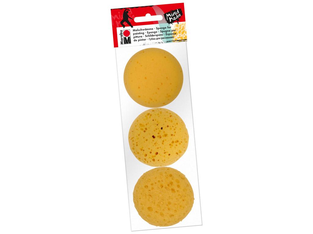 Paint Sponges Marabu d=7cm 3pcs assortment