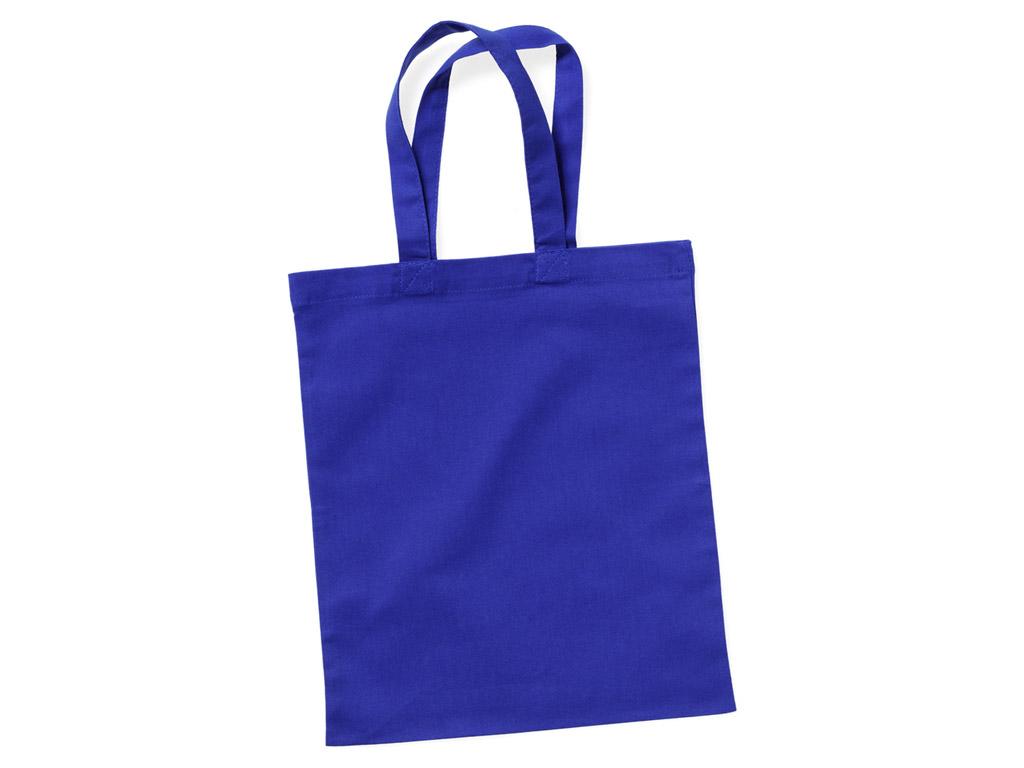 Medvilninis maišelis 24x28cm trumpos rankenos blue royal