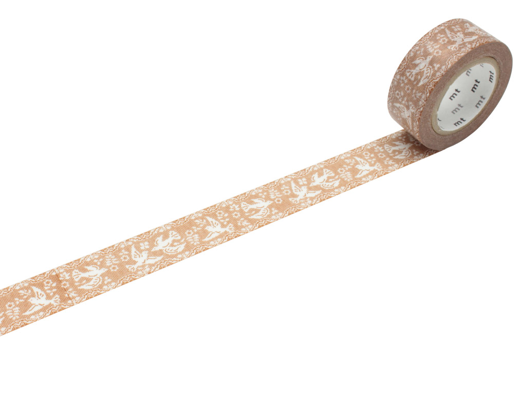 Washi līmlente mt ex 18mmx10m lace/bird