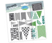 Tempel silikoonist Aladine Stampo Clear 19tk Flags blistril