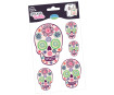 Sticker Textile Aladine Death's-Head Flowery blister
