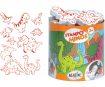 Zīmogs Aladine Stampo Minos 10gab. Dinos + zīmoga spilventiņš melna